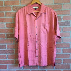 Tommy Bahama Silk Button Up Shirt Size Medium